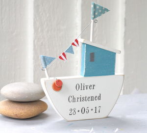 Personalised Standing Fishing Boat - children's room