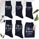 Ornate Scroll Groomsman Wedding Socks