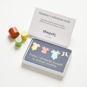 Gift cards for New Mummy's milestones - gifts for babies