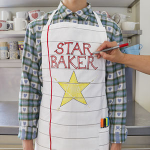 Doodle Cotton Chef's Apron To Personalise Adult Size - gifts for fathers