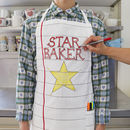 Doodle Cotton Chef's Apron To Personalise Adult Size