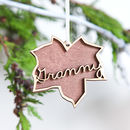 Personalised Luxury Leaf Christmas Decoration