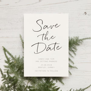 Minimalist Save The Date Card - invitations
