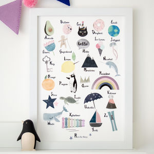Personalised My First Abc Children's Alphabet Print - baby's room