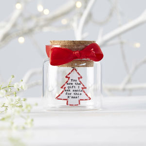 Personalised Christmas Message In Bottle
