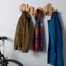 Oak Blocks Coat Rack