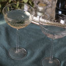Set Of Two Areca Champagne Saucers