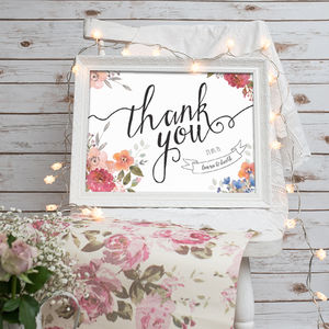 Wedding Thank You Print