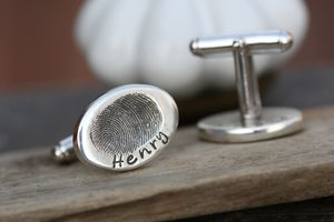 Fingerprint Scrumtastic Cufflinks