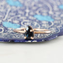 Agathe 9ct Rose Gold Blue Sapphire Boho Ring