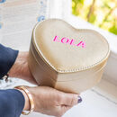 Personalised Gold Heart Jewellery Case