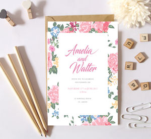 Floral Pattern Wedding Invites