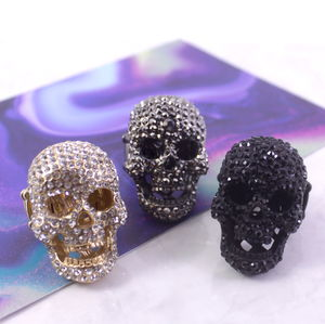 Large Crystal Skull Ring - rings