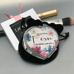Bridesmaid Watercolour Floral Compact Mirror - compact mirrors