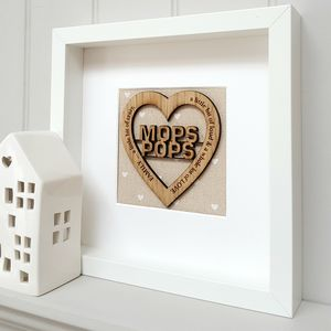Mum And Dad Heart Framed Artwork