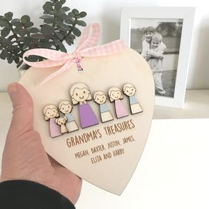 Personalised Nanny Or Grandmas Keepsake Heart