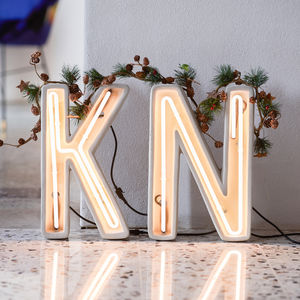 Concrete Neon Letters - art & decorations