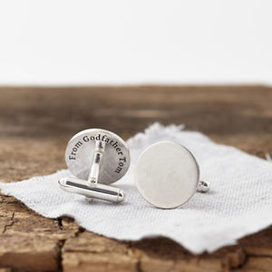 Personalised Sterling Silver Hidden Message Cufflinks - mens