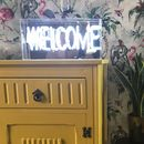 Welcome Neon Lightbox