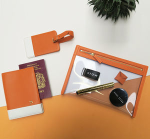 Luxury Three Piece Personalised Travel Gift Set