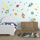 Space Rockets, Stars And Planets Wall Sticker