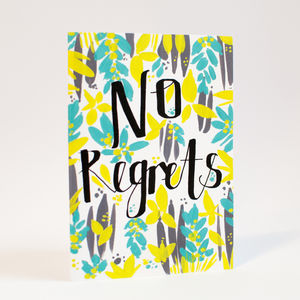 'No Regrets' Note Card
