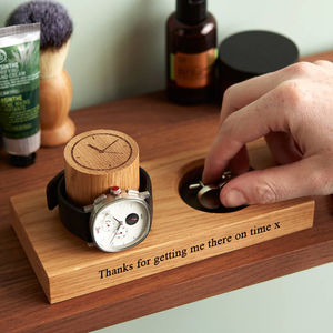 Personalised Cufflinks Tray And Watch Stand - gifts for him