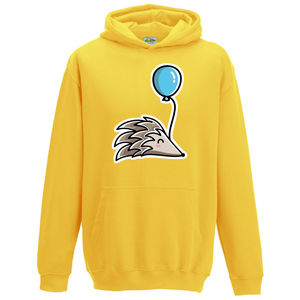 Cute Hedgehog And Balloon Child Hoodie