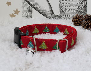 Christmas Tree Dog Collar - christmas clothing & accessories