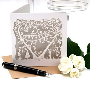 Diamond Wedding Anniversary Card Laser Cut Card