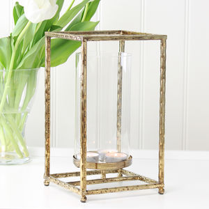 Gold Hammered Lantern