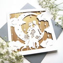 Wedding Card Paper Moon In Rose Gold