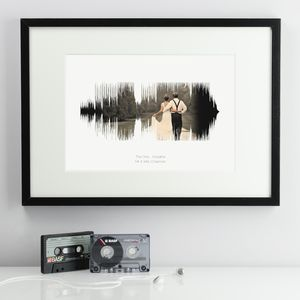 Personalised Wedding Soundwave Print - 1st anniversary: paper