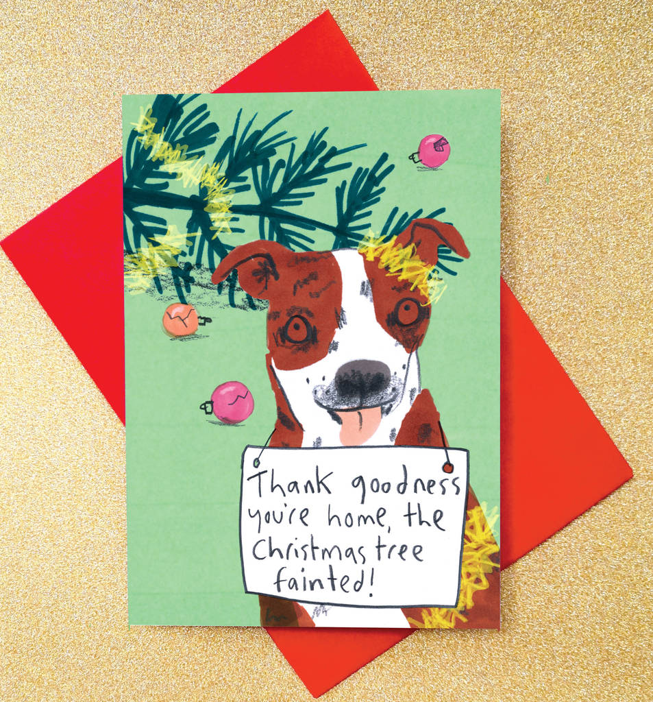 sorry dog christmas cards pack of eight cards by jo clark design ...