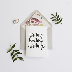 'Wedding Wedding Wedding' Card