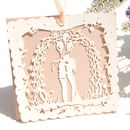 Boho Bride Laser Cut Card In Nude