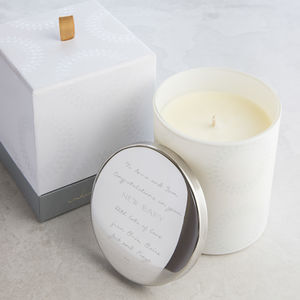 Personalised Scented New Baby Candle - new baby gifts