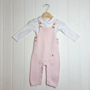 Baby Girl French Designer Pink Two Piece
