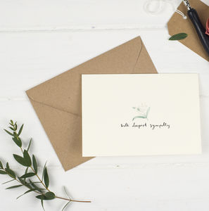 With Deepest Sympathy Card - sympathy & sorry cards