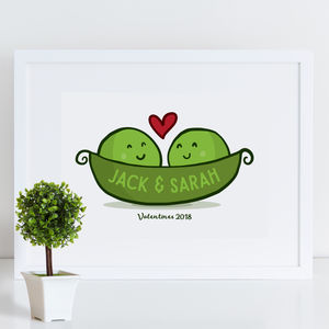 Peas In A Pod Valentines Or Wedding Gift Print