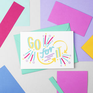 'Go For It!' Card