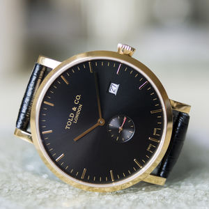 'Richmond' Black And Gold Watch - new in fashion