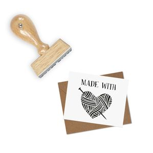 'Made With Love' Gift Stamp - ribbon & wrap