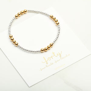 40th Birthday Stacking Bracelet Gift For Her