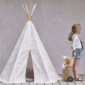 Immy Pink Sparks Teepee, Designed By Nobodinoz