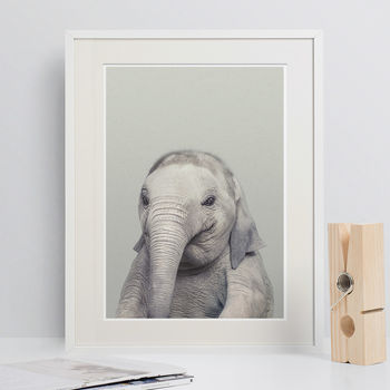 Nursery Decor Baby Elephant Animal Print