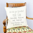 Personalised 'Love You Grandad' Cushion