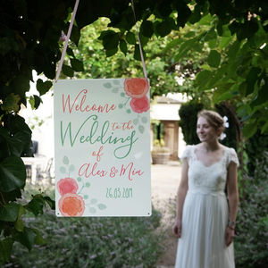 Personalised Spring Wedding Welcome Sign - signs