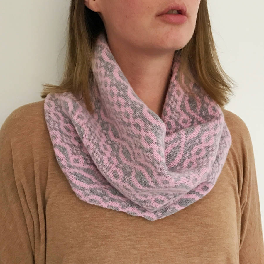 Snood Pattern Knit : ladies pink knitted snood by little knitted stars notonthehighstreet.com