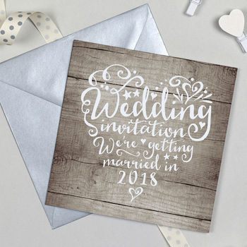 10 Pack Of Heart And Soul Wedding Invitations
